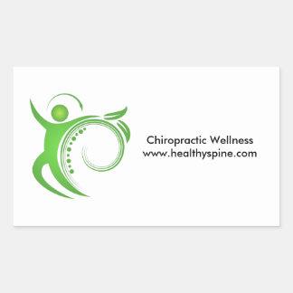 Healthy Chiropractic Spine Man Rectangular Sticker