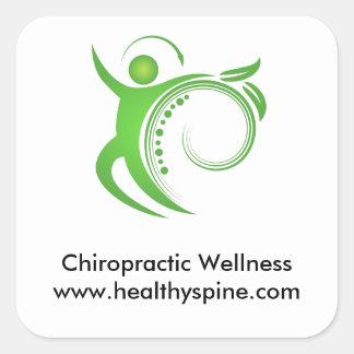 Healthy Chiropractic Spine Man Square Sticker