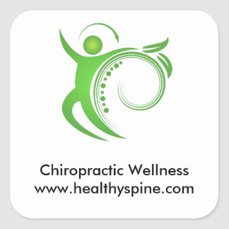 Healthy Chiropractic Spine Man Square Sticker