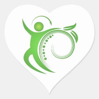 Healthy Chiropractic Spine Man Heart Sticker