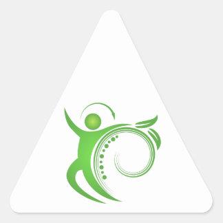 Healthy Chiropractic Spine Man Triangle Sticker