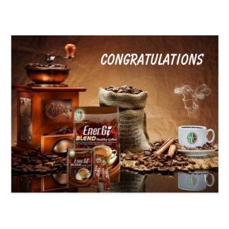 Healthy Coffee CONGRATULATIONS Postcard