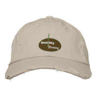 Healthy Eating Embroidered Hat