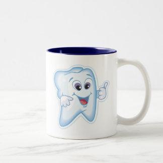Healthy Happy Tooth Two-Tone Coffee Mug