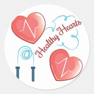 Healthy Hearts Round Sticker