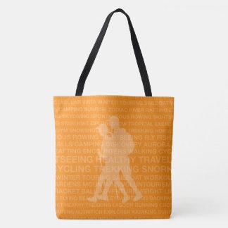 Healthy Trekking Tangerine Beach Bag