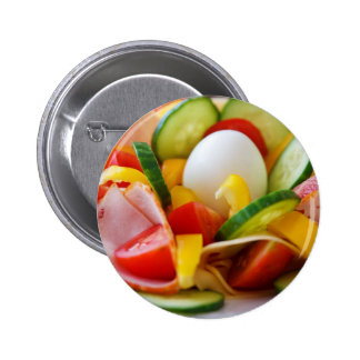 Healthy Vegan Breakfast 6 Cm Round Badge