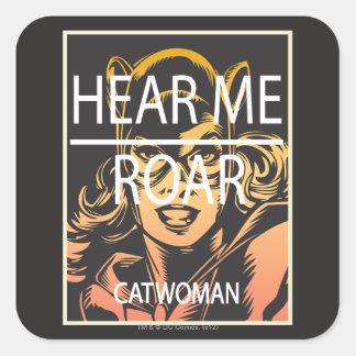Hear Me Roar Square Sticker