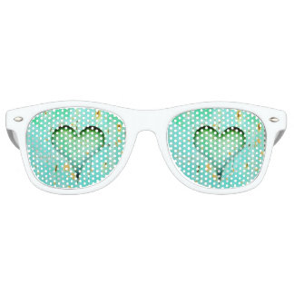Heart Adult Party Shades, White Retro Sunglasses
