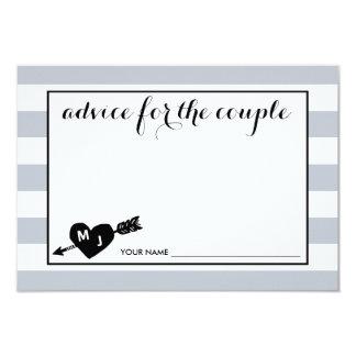 Heart and Arrow Monogram | Advice for the Couple Card