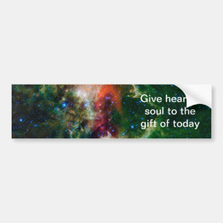 Heart and Soul Nebula NASA Bumper Sticker