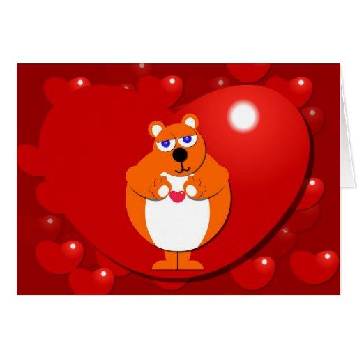 HEART BEAR Card
