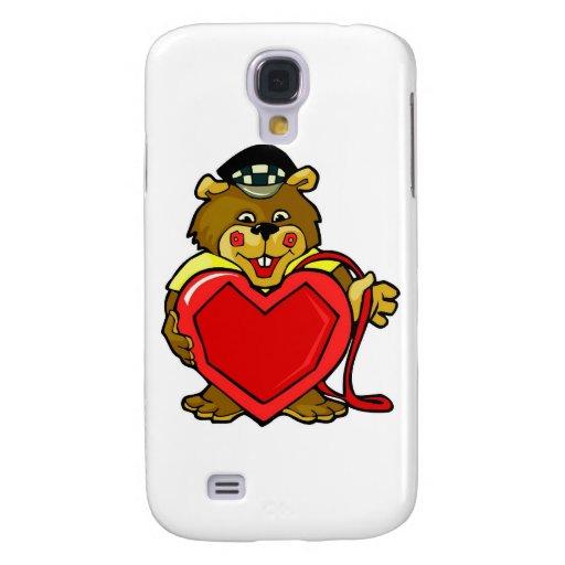 Heart Bear Galaxy S4 Covers