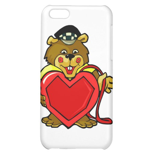 Heart Bear iPhone 5C Case