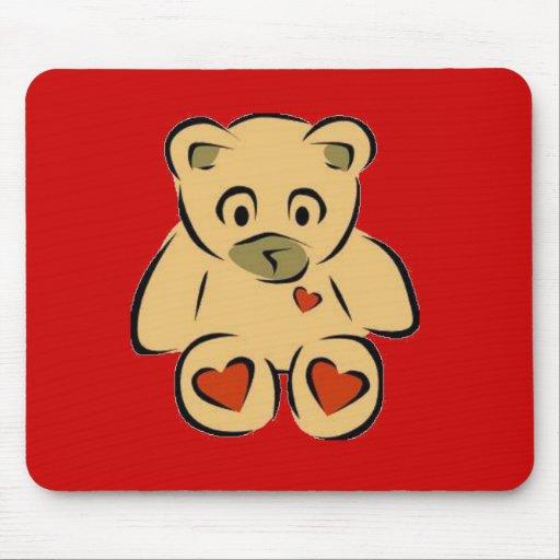 Heart bear mousepads