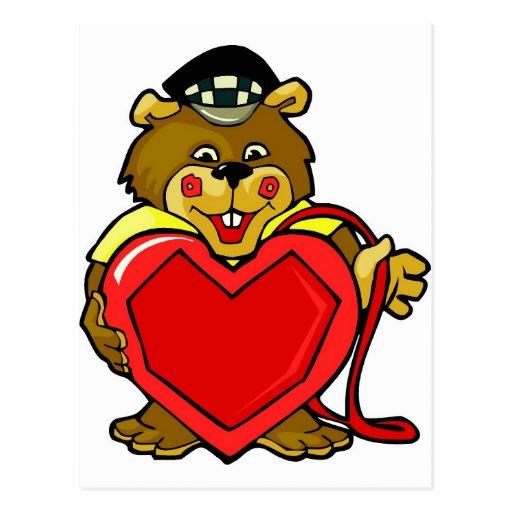 Heart Bear Postcard