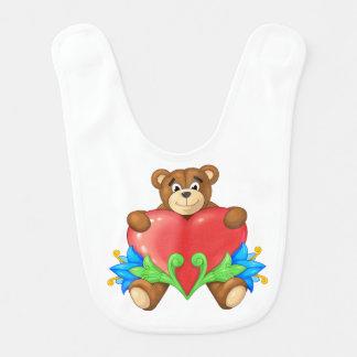 heart Bear Bib