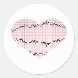 Heart Beat I Round Sticker