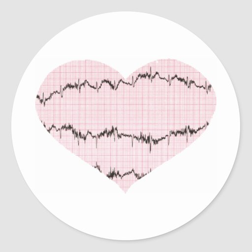 Heart Beat I Round Sticker