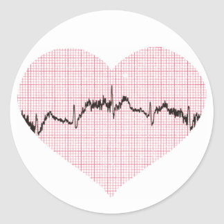 Heart Beat III Round Sticker