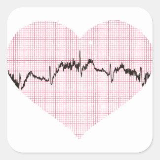 Heart Beat III Square Sticker