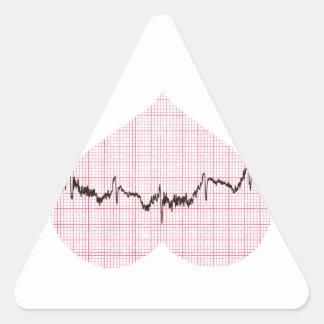 Heart Beat III Triangle Sticker