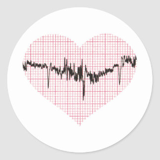 Heart Beat VI Round Sticker