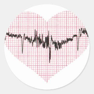 Heart Beat VI Stickers