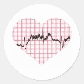 Heart Beat VII Round Sticker