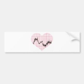 Heart Beat VIII Car Bumper Sticker