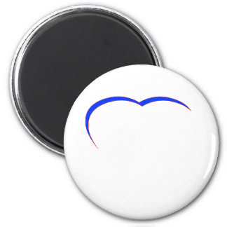 Heart Blue-Red Curve The MUSEUM Zazzle Gifts Fridge Magnets
