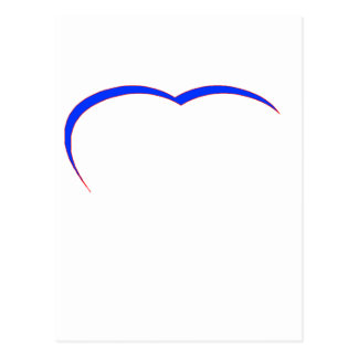Heart Blue-Red Curve The MUSEUM Zazzle Gifts Postcard