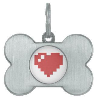 Heart Bone Pet Tag