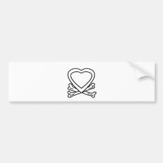 Heart & Bones White The MUSEUM Zazzle Gifts Bumper Sticker