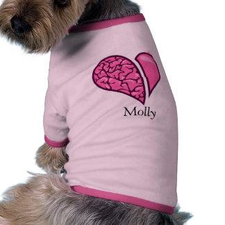 Heart-Brain Doggie Tee