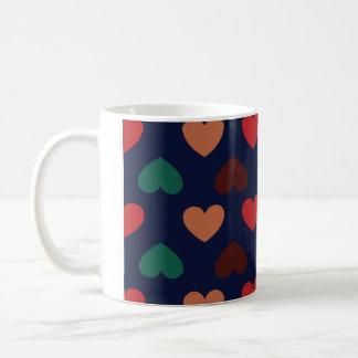 heart colourful coffee mug