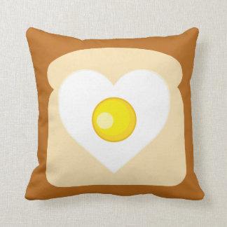 Heart Egg Toast Pillow Cushion