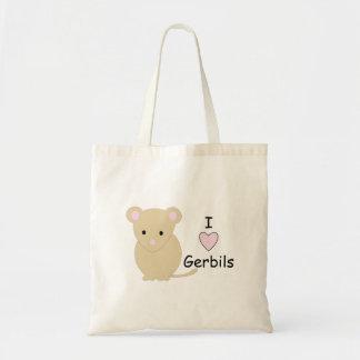 Heart Gerbils Budget Tote Bag