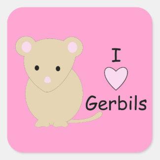 Heart Gerbils Stickers