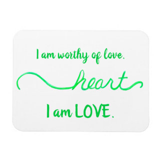 """Heart"" Green Heart Chakra Love Words Magnet"