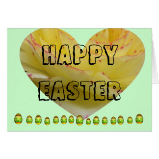 Heart Happy Easter Card