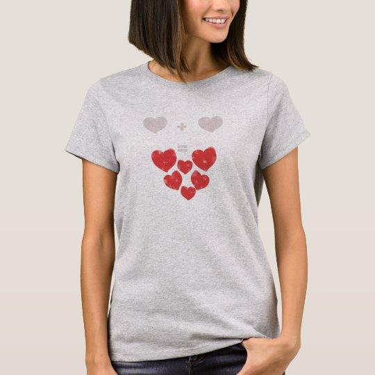 Heart + Heart = Love Funky T-Shirt Top