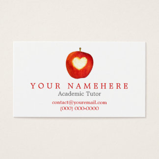 Heart in Apple Business Cards