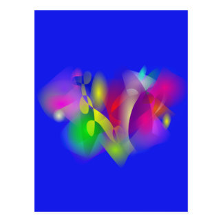 Heart in Blue Post Cards