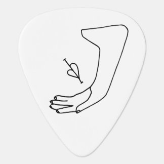 """Heart in Hand"" Guitar Pick"