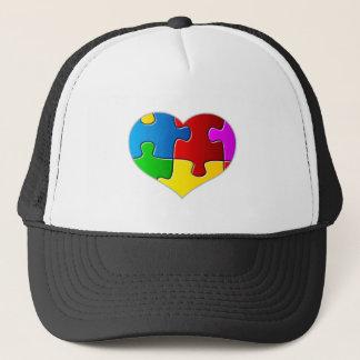 Heart Jigsaw Puzzle Trucker Hat