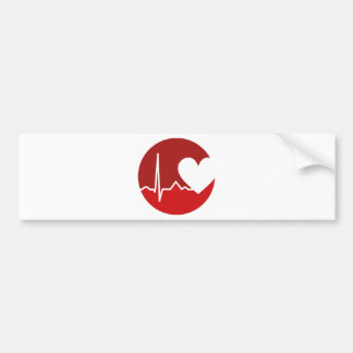 Heart Logo Bumper Sticker