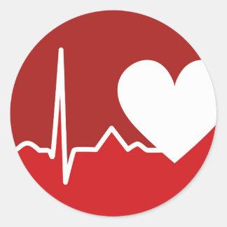 Heart Logo Round Stickers