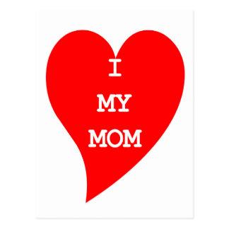 Heart Love my MoM Image Postcard