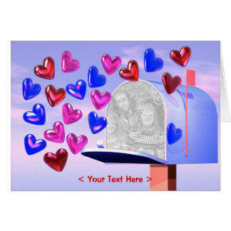 Heart Mail 2 (photo frame) Greeting Card